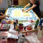 Quilts entstehen für EVIM Biebrich