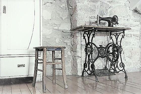 Nähen lernen mit einer alten Nähmaschine